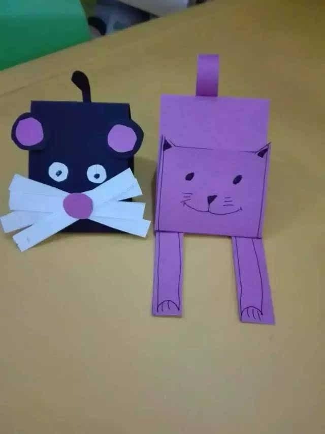 折纸猫步骤图解法