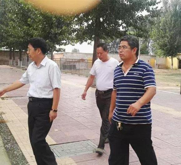 隆尧县教育局局长张吉华到滏阳中学调研并指导工作