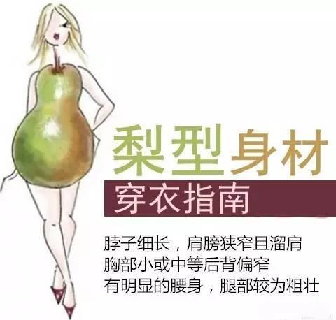 梨型身材图片