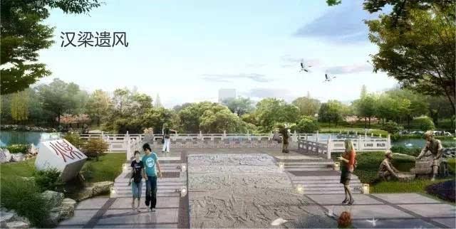 沱河湿地公园效果图