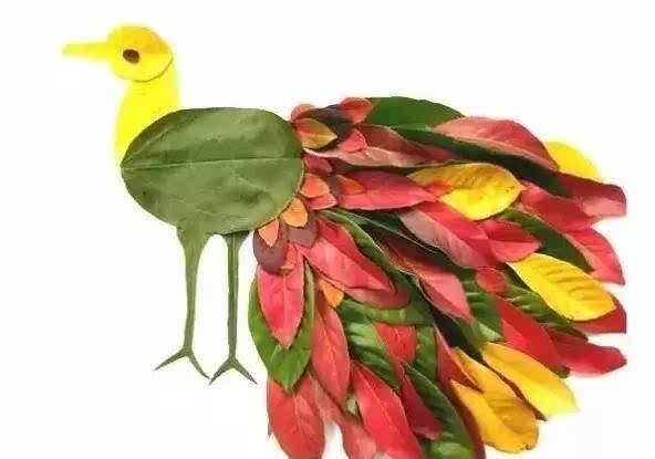 幼儿园秋季创意手工+主题环创+树叶粘贴画!