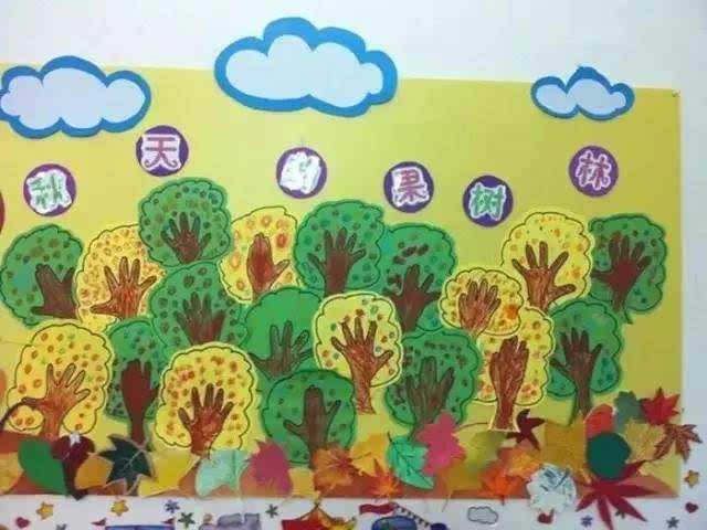 手工  100种幼儿园秋季创意手工 主题环创 树叶粘贴画图片