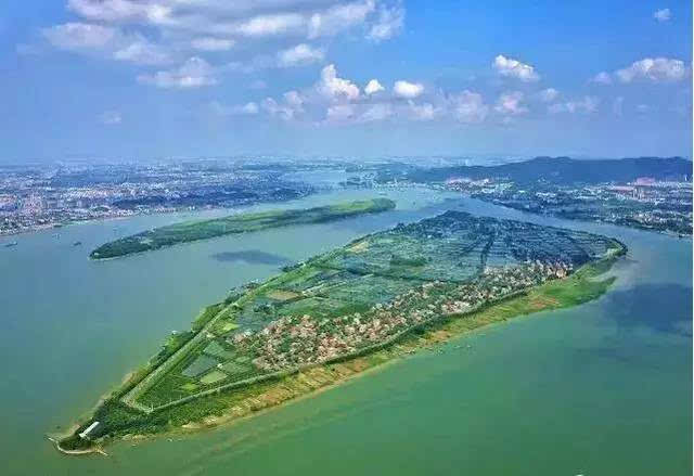 海寿岛 海寿岛是一个扁长的江心岛, 位于南海九江与鹤山市之间的西江