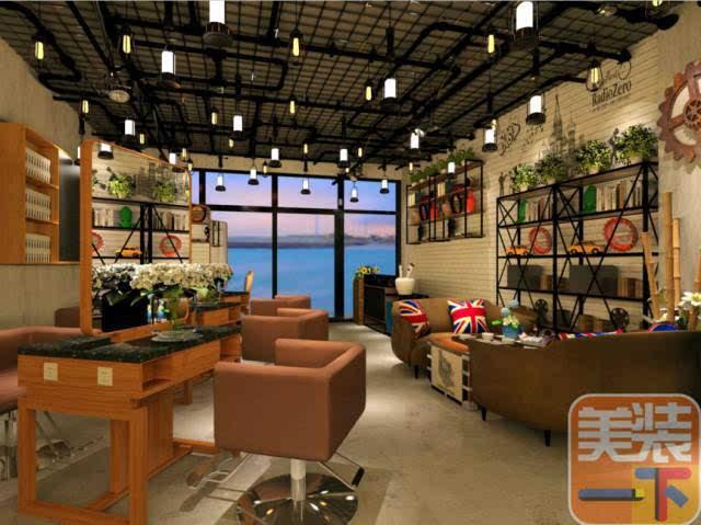 美发店老板必看的工业风设计,现代与复古的全新装修主义图片