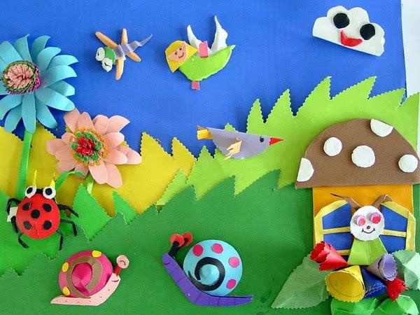 幼儿园创意手工,立体手工墙饰,开学环创必备哦!图片