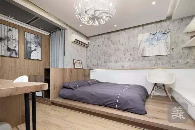 卧室中打造了一个地台设计,榻榻米的睡眠空间会让人觉得很放松舒适图片