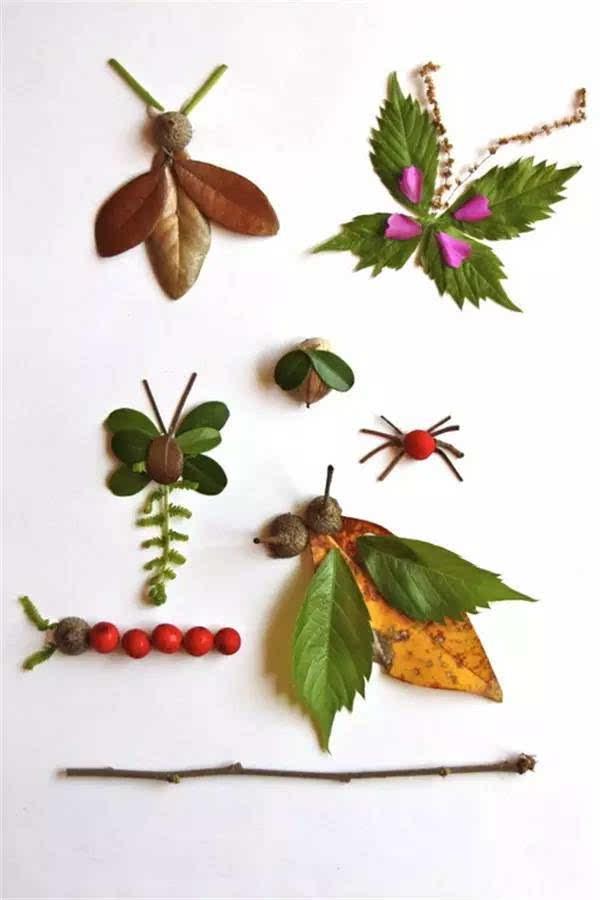 100种幼儿园秋季创意手工+主题环创+树叶粘贴画!