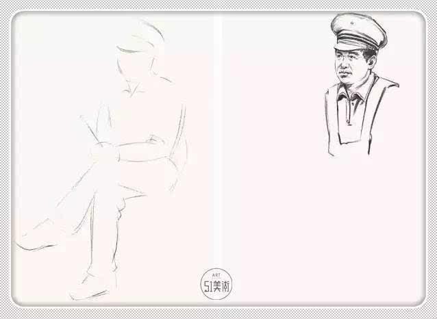 服装速写结构图