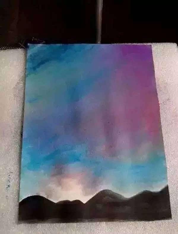 水粉画教程 用简单的材料教你画出美丽的星空