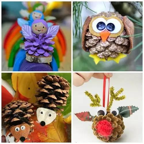 松塔的100多种玩法,手工,环创,吊饰,植物角都有,真是捡回来个宝啊!