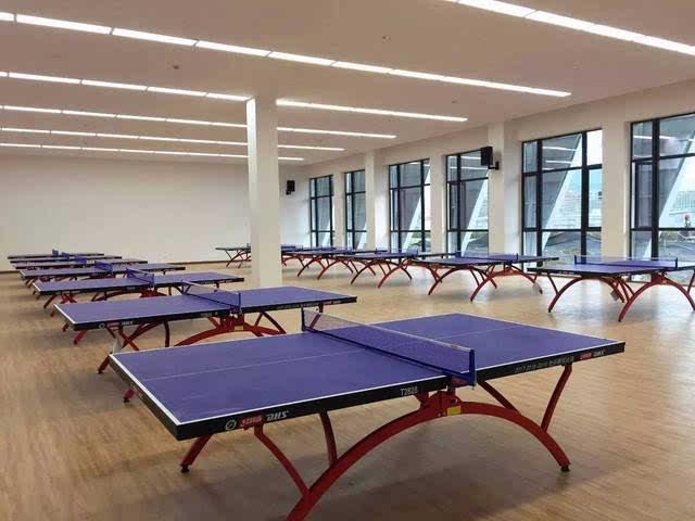 外形酷炫 风雨操场里面有2层 一层乒乓球室和形体室 二层是室内篮球场图片
