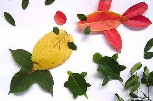 【环创】100种幼儿园秋季创意手工 主题环创 树叶粘贴图片
