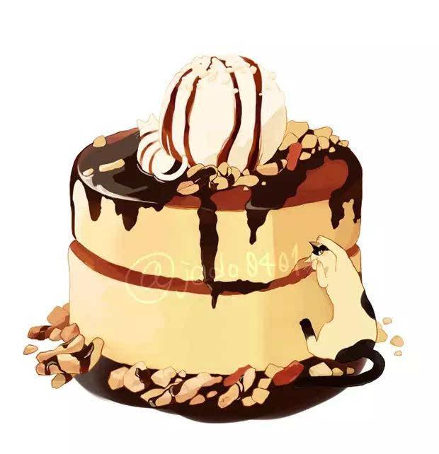 【吃货必看】清新可口的二次元蛋糕手绘插画-动漫频道