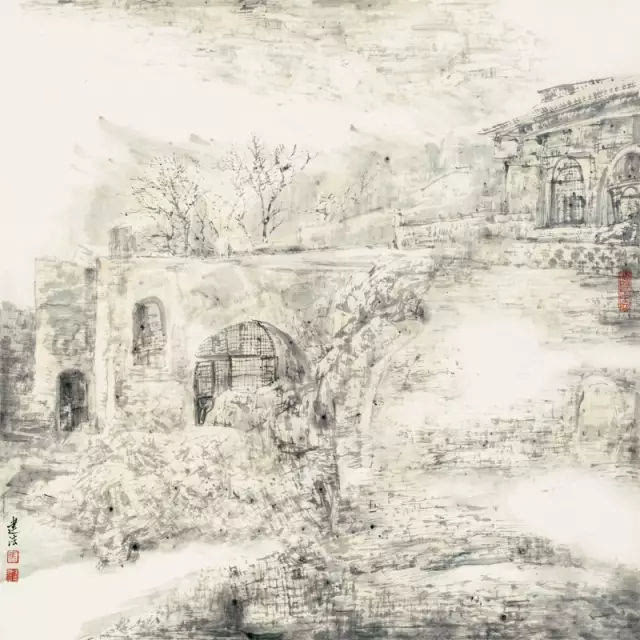 """""""当代山水探索新体系——当代中国山水画邀请展""""在中国画美术馆隆重图片"""
