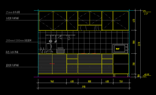 cad书房平面图设计