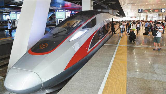 """9月21日,京沪高铁""""复兴号""""迎来提速,有7对动车组率先以时速350公里开图片"""