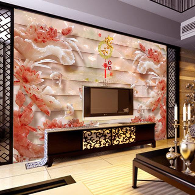 欧式现代简约电视背景墙 高端大气 造型简洁 平板石材适合各种家具