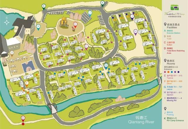 营地手绘地图丨