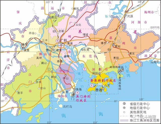珠海行政区划地图