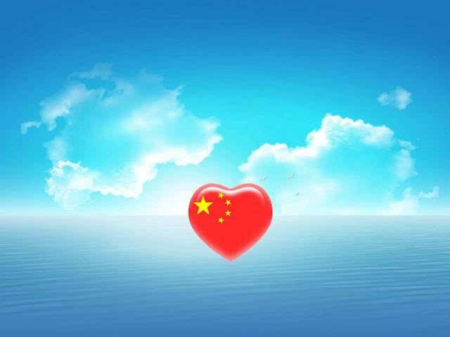 认真地向祖国道一声祝福,我爱你祖国!
