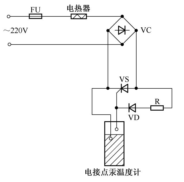 简易晶闸管温度自动控制电路