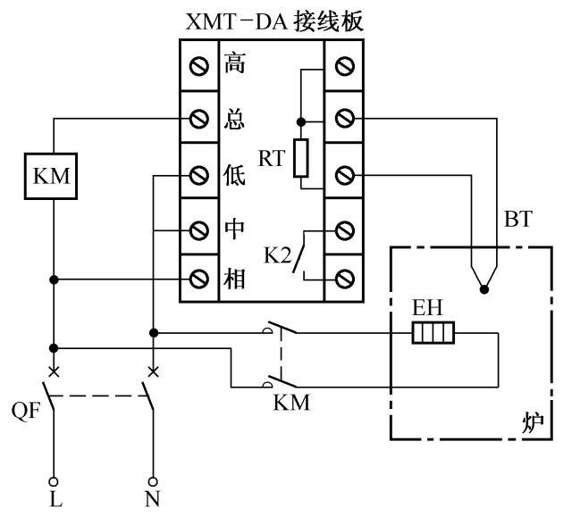 xmt-da数字显示调节仪控温电路