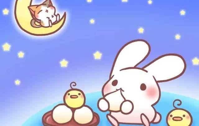 玉兔趁嫦娥参加王母娘娘的宴席,偷偷溜下凡间.