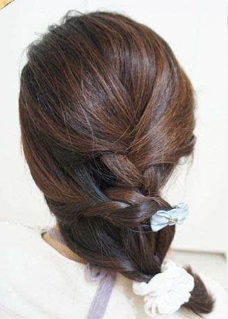 2款长头发女生漂亮扎发图解!