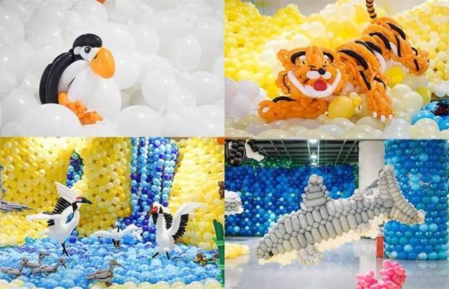 """国庆节邂逅集美节 全球最大气球动物王国火爆全城 """"爸爸,这些动物会"""