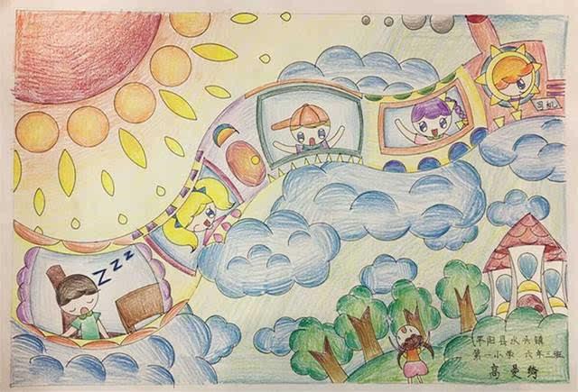 未来汽车啥模样?童画车展少儿绘画大赛请你点赞!图片