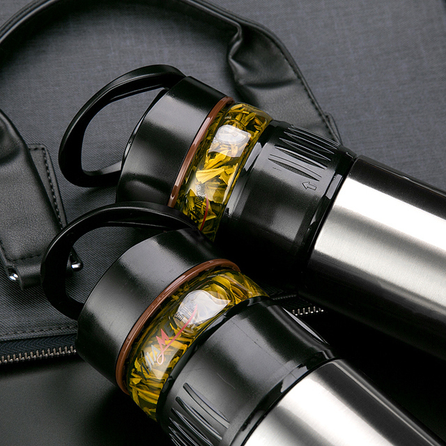专利创新设计多功能泡茶杯,真正实现茶水分离,茶仓采用高硼硅全玻璃图片