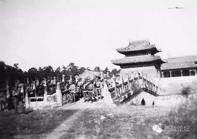 【历史不能忘记】日军在清西陵照片 抗战期间清朝皇陵