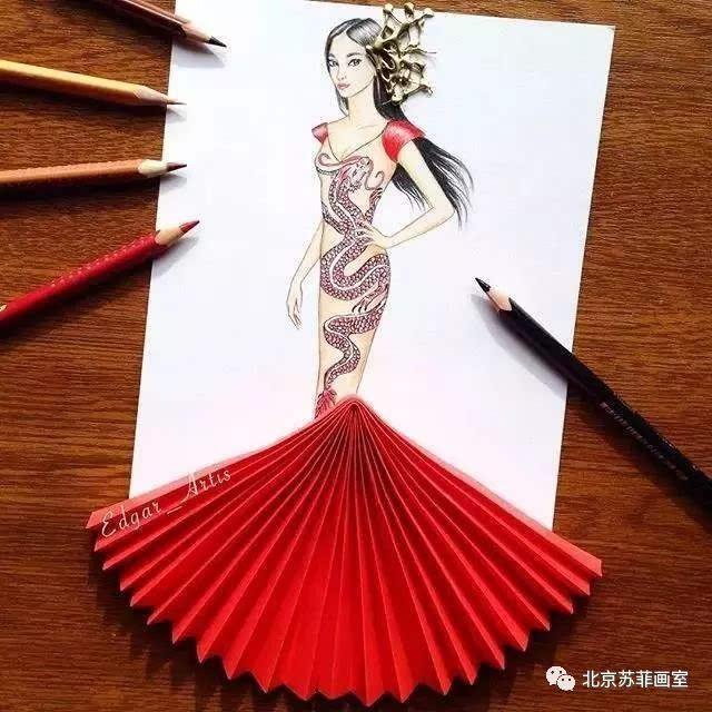 时尚插画|手绘时装画