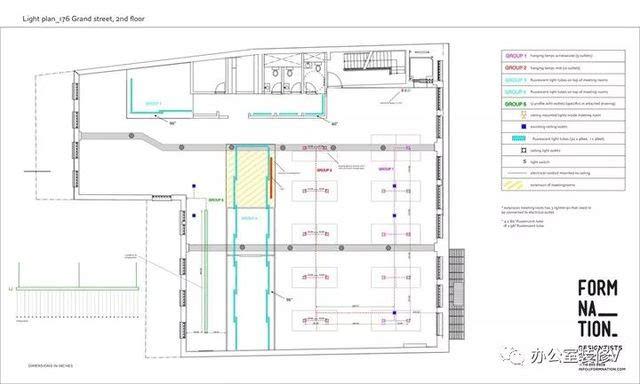 纽约wifi热点设备公司办公室设计-平面图图片