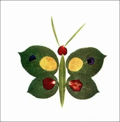 树叶拼图不仅开发了宝贝们的想象思维能力,也培养了宝贝们的创造性图片