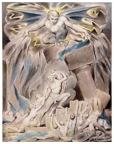约伯受了莫大的苦难,一切的福祉都被上帝交给了撒旦,又被撒旦夺个干净
