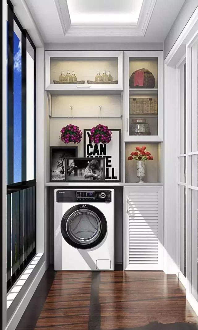 装修新房,阳台流行这样装柜子,这个柜子可不一般!