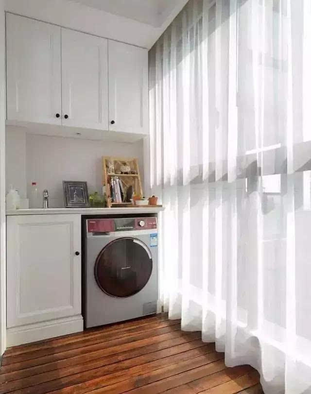 裝修新房,陽臺流行這樣裝柜子,這個柜子可不一般!圖片