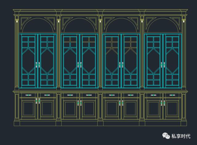 书柜,衣柜,橱柜cad素材 大小  120m  注:截图至少一部分 如果不方便