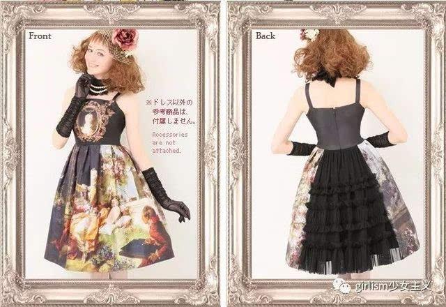 把油画印在lolita裙子上是怎样一种体验?图片
