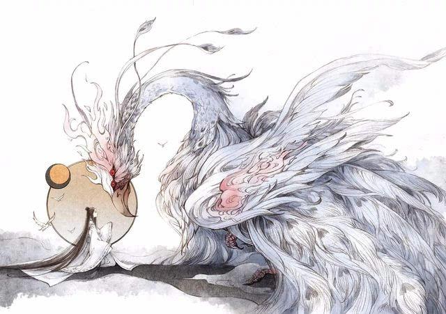 【古风】唯美《半面妆》插画,有些容颜望一眼便终身思念
