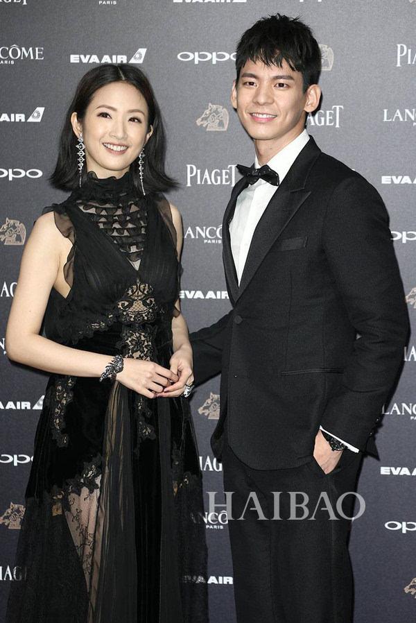林依晨,林柏宏现身2017第54届台湾电影金马奖颁奖典礼图片