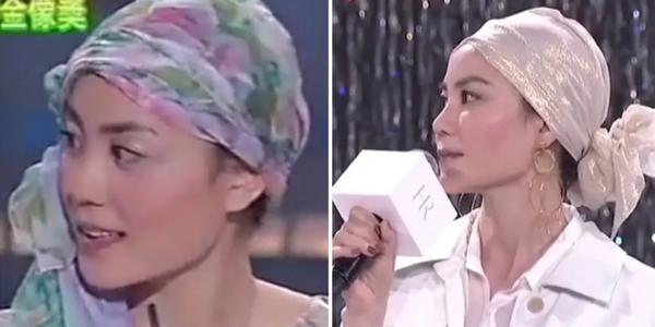 王菲带头巾现身,如上世纪名伶,被网友嘲显头大?
