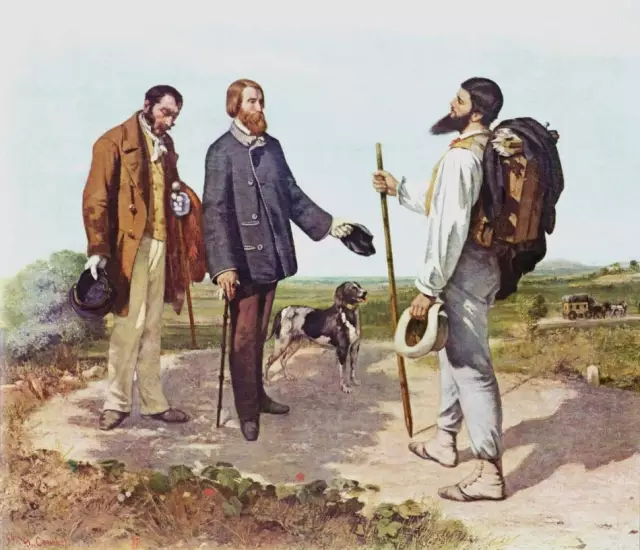 the meeting( bonjour, monsieur courbet)