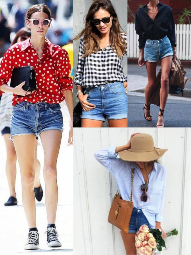 女生衬衫可以搭配短裤吗 夏天最火搭配套路!