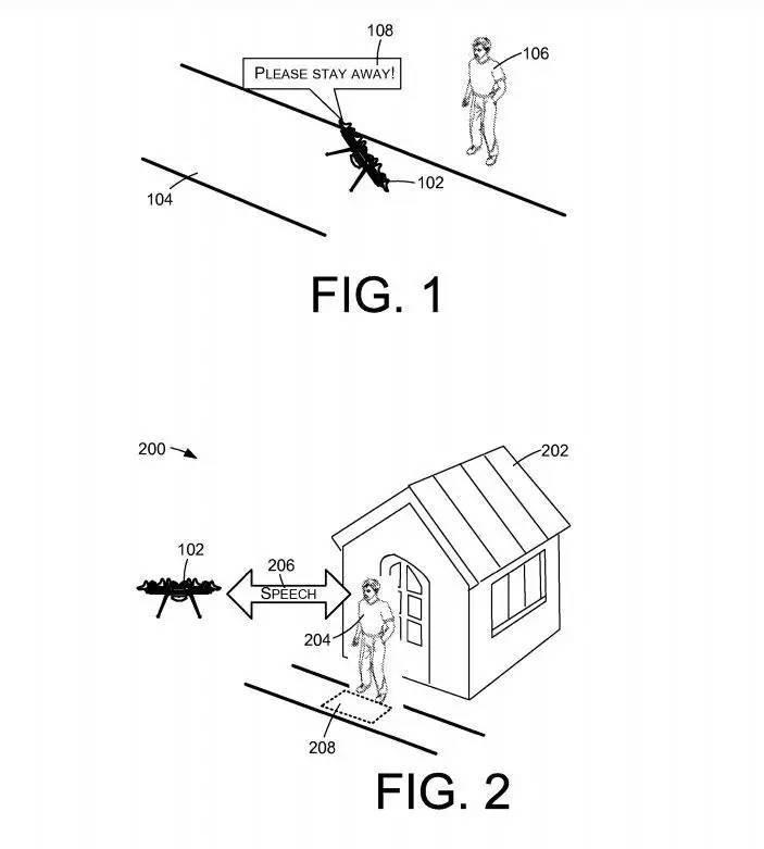 搭载语音模块,亚马逊配送无人机能与收货人「 隔空喊话 」