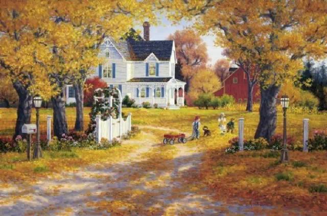 人生的本色该是如此_油画里的秋天,竟是如此之美!