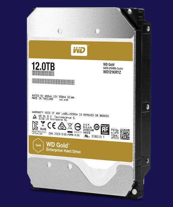 西数发布12TB机械硬盘新品:7200转金盘、256MB缓存的照片