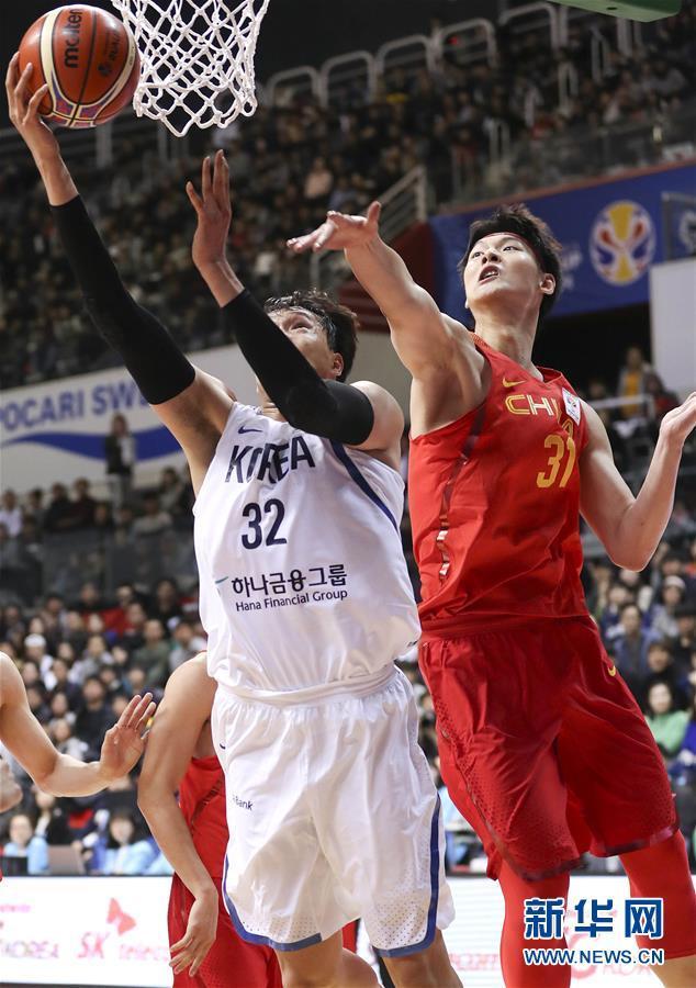 韩国主帅不服 中国男篮取得了世预赛的2连胜