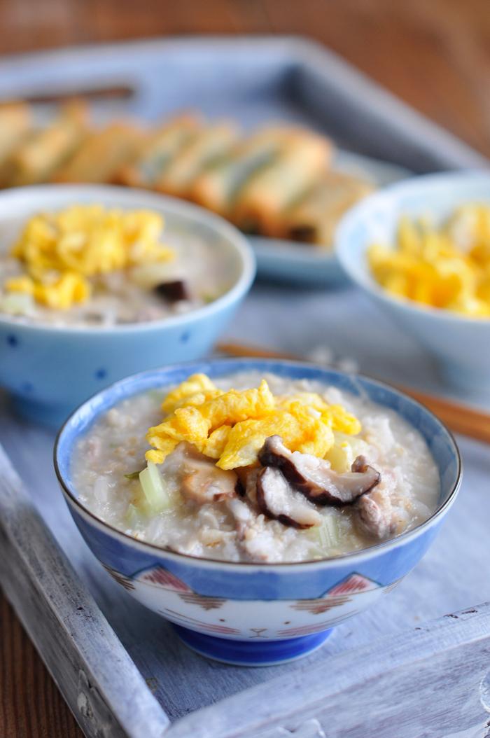 一碗内容丰富的粥可以这样煮----燕麦鸡蛋瘦肉粥